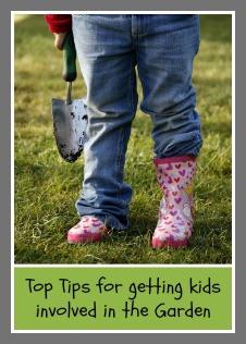 Child gardening pin
