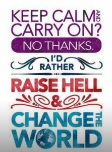 keep calm - change the world